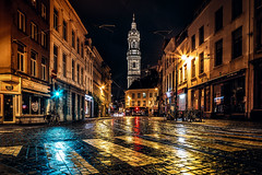 In the streets of Antwerp (cygossphotography) Tags: antwerpen antwerp anvers flandern flanders flandre belgien belgium belgique belgië strase street rue nacht night nuit sintcarolusborromeuskerk kirche church eglise kerk cinematic city cityscape reise travel voyage canon eos 6d