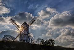 Sails in the sun (Through Bri`s Lens) Tags: sussex jackandjillwindmills pyecombe windmill snow brianspicer canon5dmk3 canon1635f4