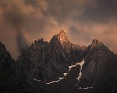 Vågakallen (eriknst) Tags: lofoten norway norwegen norvege arctic night summer light clouds mountain mood darkness snow hiking svolvær henningsvær vågakallen e10 sirui tamron