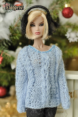 Quicksilver Kyori Sato (elenpriv) Tags: quicksilverkyorisato 12inch fr2 fashion doll integrity toys jasonwu handmade clothes dollclothes elenpriv elena peredreeva handknitted pullover sweater blue