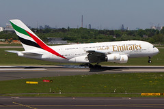 Emirates Airbus A380-800 Touchdown! (Edward van Vliet) Tags: aircraft airplane airlines airbus airport emirates engines wings smokey touchdown action landing flaps slats thrust reversers flight travel traveler gear controls rudder ailerons elevators design composites carbon fibre aluminium fly steel sky flying a380800 a380 glare flare