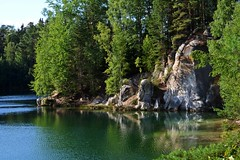 green water :) (green_lover (I wait for your COMMENTS!)) Tags: lake rocks trees pískovna czechrepublic water nature landscape green