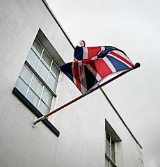 a nice flurl of the flag ... (John(cardwellpix)) Tags: friday 21st december 2018 patriotic union jack ripley high street surrey uk