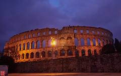 Pula Arena by Night. (Eadbhaird) Tags: croatia istria pula night building arena hrv