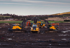 Twins. (HivizPhotography) Tags: volvo ec300el excavators a25 articulated dumper construction earthmoving two double wm donald heavy equipment tracked plant hire scotland uk