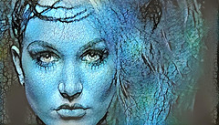 Happy Post Processing 2019 (Eclectic Jack) Tags: blue post processing processed process woman ddg deep dream generator pretty eye eyes
