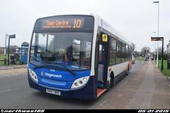 36036 (northwest85) Tags: stagecoach worthing gx57 bhz 36036 alexander dennis adl enviro 200 dart 4 10 town centre tesco west durrington bus gx57bhz