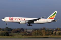 Ethiopian Cargo  Boeing 777-F60 ET-ARK (widebodies) Tags: liege lüttich lgg eblg widebody widebodies plane aircraft flughafen airport flugzeug flugzeugbilder ethiopian cargo boeing 777f60 etark