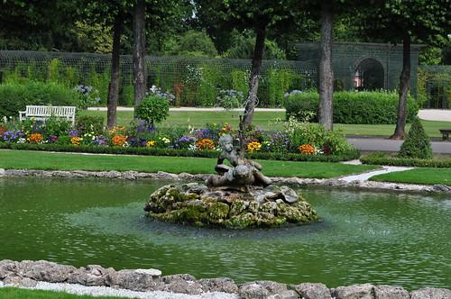 Jardin à la française, château baroque de Schwetzingen (1700-1717), Schwetzingen, Rhin-Neckar, Bade-Wurtemberg, République fédérale d'Allemagne.