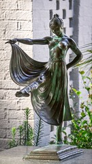 In and Out of the Crowd (dayman1776) Tags: dancing dancer woman female art museum beautiful nude bronze sculpture statue skulptur escultura sculptor brookgreen gardens south carolina myrtle beach figurative figure amazing sony a6000