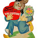 Vintage Child's Valentine Card - Special Delivery For My Valentine, An Carrington Company Card, Made In USA, Dated 1945