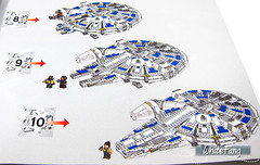 The overview of the building process (Step 8-10) (WhiteFang (Eurobricks)) Tags: lego star wars han solo story movie blockbuster spinoff gang outer rims tobias enfy nest high speed chase millennium falcon mf lando bet parsec crew ship corellian
