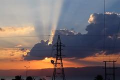 Jordan Aqaba (rolfij) Tags: jordan aqaba sunset light sun cloud redsea
