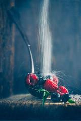As sweet as you (Ro Cafe) Tags: 52semanas52palabras blackberries fruits nikkor2470mmf28 raspberries sonya7iii spoon stilllife action movement movimiento sugar darkmood rustic food dessert textured berries