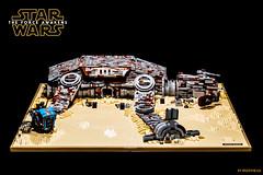 Rey's Home (speedyhead79) Tags: lego starwars legomoc moc rey jakku theforceawakens episode7 bb8 afol roguebricks