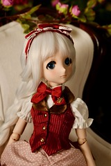 Anniversary Strawberry outfit by Volks (Real Salica) Tags: volks volksusa volksinc minidollfiedream mdd wig doll dollfie 14scale strawberry dress anniversary 15th dollfiedream