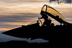 Night Mission (Lee532) Tags: exposure night royal air force typhoon eurofighter fighter plane jet fast military aviation aircraft coningsby nikon d610 tamron airplane sky cockpit people photo pilots pilot sunset sun set clouds