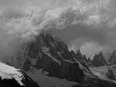Cerro Torre Storm HD B&W (lvalgaerts) Tags: el chaltén fitz roy mount chalten mountain andes fog clouds cerro torre argentina chile south america laguna loma del pliegue tumbado solo storm