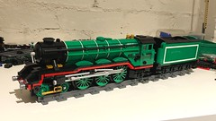 Another finished (Britishbricks) Tags: green a3 moc train engine steam flyingscotsman lner lego