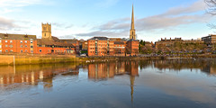 RIVER SEVERN WORCESTER (chris .p) Tags: worcester river severn nikon d610 capture worcestershire winter 2018 riversevern reflection reflections church uk england december water swans