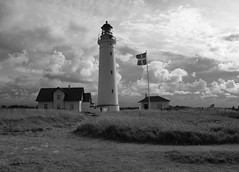 Lighthouse in Hirtshals (Rambolive) Tags: danmark denmark landscape bw lighthouse fyrtårn hirtshals