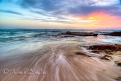Sunrise Blackwoods Beach  Sydney (600tom) Tags: streaking sandy sand nikon clouds waves rocks colourful longexposure beach sydney sunrise