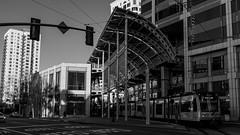 IKEX6277 (inpb) Tags: bw blackwhite california sandiego sandiegotrolley streetphotography trolley