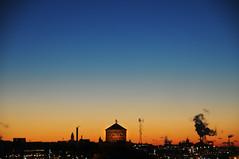 Gothenburg skyline (Benedictus Schwartze) Tags: gothenburg sweden sunset sky skyline skansenlejonet view gradient smoke fortlet