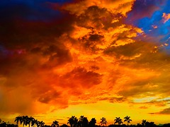 Pereira Big Sunset! (EDUARDOZEA) Tags: image blue orange red amazing hot magic panorama view maracay risaralda horizon palms sunset sky clouds coffee axle travel pereira