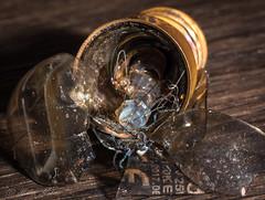 Damaged (milan_146) Tags: macromondays glass broken hmm macro bulb lightbulb nikon d7100 nikkor nikkor105mmf28gvrmicro picktwo