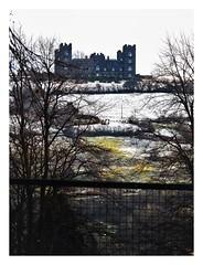 forbidden castle Cl (Mallybee) Tags: castle snow hill olympus omd em10 mk11 40150mm m43 mirrorless mallybee forbidden winter matlock f456 derbyshire moody fence dramatic building