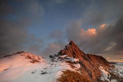 """ THE RIDGE "" (Wiffsmiff23) Tags: breconbeaconsnationalpark quarry sleepinggiant southwales fire flames red heat snow freezing ice"