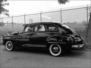 Black Dodge for Fence Friday