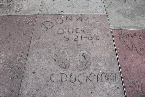 "Donald Duck's Footprints at the TCL Chinese Theatre • <a style=""font-size:0.8em;"" href=""http://www.flickr.com/photos/28558260@N04/43986429960/"" target=""_blank"">View on Flickr</a>"