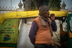 The Smoke Break (shapeshift) Tags: agra d5600 in sikandra asia autokickshaw candidphotography davidpham davidphamsf documentary india man moped people shapeshift shapeshiftnet smoking southasia street streetphotgraphy traffic travel tuktuk uttarpradesh