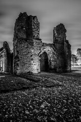 Dudley Priory_M-8861 (timbertree9) Tags: greyscale blackandwhite monochrome mono colour dudley dudleycouncil westmidlands priory sky skyatnight architecture historic ruins eng unitedkingdom central hdr dark darksky stars clouds lighting shadows stone