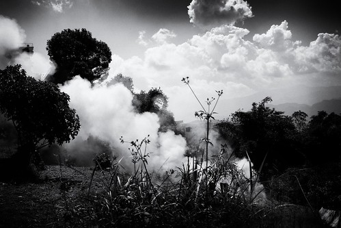 Smoke and clouds