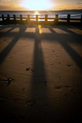 Winter Sun (PeskyMesky) Tags: aberdeen aberdeenbeach winter sun shadow sand scotland groyne landscape canon canon5d eos