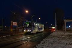 Tatra Bratislava Haltestelle Shopping Palace (danihak_at) Tags: čkd tatra t6a5 wn 7901 weihnachten bim električky bratislava schnee nacht