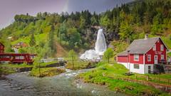 Steindalsfossen (Oliver Weihrauch) Tags: norway fernweh zugrocken hordaland waterfall wanderlust travelforlife steindalsfossen zugrocker bmgforlife adventureculture steine picoftheday lightroom kvam