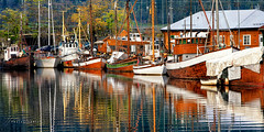 Reflection of Tradition... (Howard Brown Photographic) Tags: trondheim viking vikings boat sail boats reflection water waterscape harbor havn norway sailboat