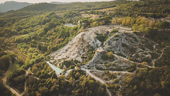 DJI_0197 (romain.tenin) Tags: italy tuscany landscape sunset green travel location drone lines europe high angle cypress tree fields dji mavic aerial
