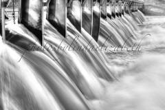 lock 12 (lindaelizabeth) Tags: upstate ny river lock water flowing fall power waterway travel patterns abstract horizontal blackandwhite