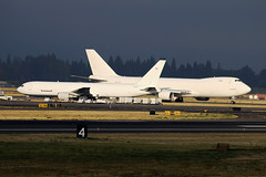 White Jets (planephotoman) Tags: boeing 767 767300 767338 n364cm airborneexpress abx904 notyellow freighter converted convertedfreighter 747 747800 748 747867f 7478f 7478u 7478uf n859gt atlasair atlas giant cpa3293 ln1526 cn62441 exbljn ntu cathaypacific cancelled whitejet cargojet pdxcargoops cargoops pdxaircraft portlandinternationalairport pdx kpdx