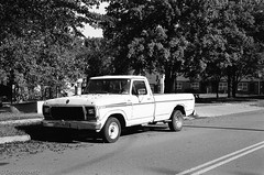 F-150 Ford (davekrovetz) Tags: ford truck road antique pickup nikon nikonfe ilford monochrome