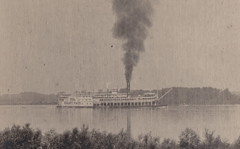 """SHIP RPPC c.1906 STEAMBOAT RIVERBOAT THE ST PAUL Built 1883 St. Louis MO for the St.Louis & St. Paul Packet Co. & ran under the Diamond Jo Flag Rebuilt 1892 at Eagle Yard Dubuque IA-- (UpNorth Memories - Donald (Don) Harrison) Tags: vintage antique postcard rppc """"don harrison"""" """"upnorth memories"""" upnorth memories upnorthmemories michigan history heritage travel tourism restaurants cafes motels hotels """"tourist stops"""" """"travel trailer parks"""" cottages cabins """"roadside"""" """"natural wonders"""" attractions usa puremichigan """" """"car ferry"""" railroad ferry excursion boats ships bridge logging lumber michpics uscg uslss"""