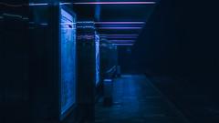 Tram station.. (igor.relsov) Tags: night street tram station neon dark nightstalker