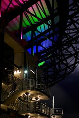 Murrayfield Lit (matthewblackwood10) Tags: murrayfield lit light colour colours stair stadium stadia arena rugby sport scotland edinburgh uk winter autumn cold metal bright lights concrete night