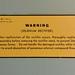 Selenium Rectifier Warning