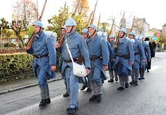 poilus en 18 (hdsulpice) Tags: 1418 poilus saintsulpice centenaire armistice celebration streetphotography